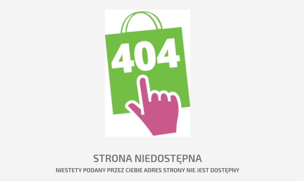 błąd 404 na stronie jak naprawić