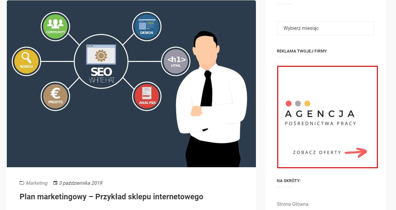 baner reklamowy współpraca agencja pracy